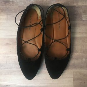 Lucky Brand Black pointed toe Flats